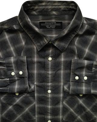 Мужская рубашка в клетку притуманена Allsaints M