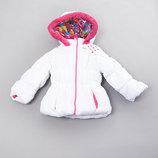 Зимняя белая красивая куртка на девочку 1-2года, размер 2Т