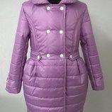 Демисезонное пальто на девочку 122,128,134,140р.