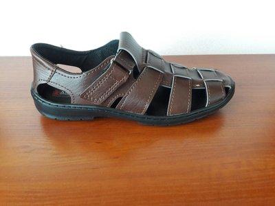 Босоножки сандалии мужские коричневые на липучках - чоловічі босоніжки сандалі коричневі