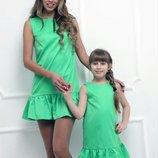 Family look летние сарафаны, платья мама дочка цвета