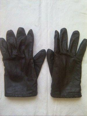 Перчатки кожа,на флисе р10.
