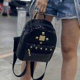 Рюкзак, рюкзачек, городской, стильный, трендовый, черный, небольшой, маленький