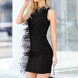 Платье страусиное перо