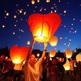 Небесные фонарики 10 шт. комбинирую разные