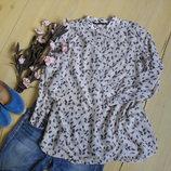 Необычаянно легкая невысомая блузка на лето ZARA-М-L