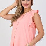 Оригинальная свободная блуза-туника для беременных, розовая