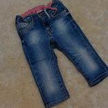 Стильные джинсики H&M на девочку 9-18 месяцев