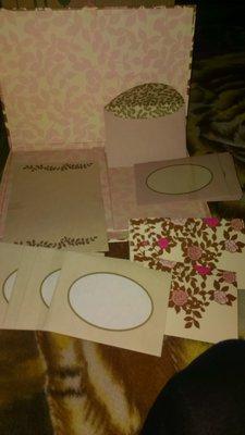подарочный набор ,открытки,конверты и листочки для поздравления