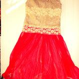 Нарядное платье праздничное платье 7-8 лет ог 68, дл. 96