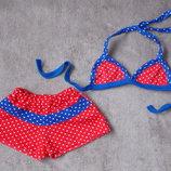 Красивые раздельные купальники для девочки размеры 28, 30