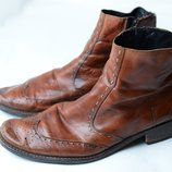 Кожаные ботинки мокасины р.42,43