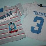 Летние котоновые футболки на мальчика от 1до 2 лет для двора