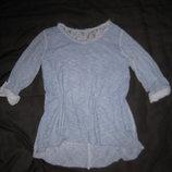 12-14 р-р, красивый реглан блузка с бантиком