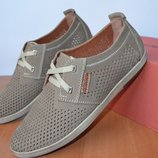 летние замшевые туфли