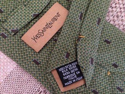 Yves Saint Laurent, Франция, Париж, оригинал, брендовый галстук из натурального шелка