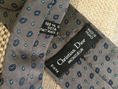 Christian Dior, Франция, Париж, оригинал, брендовый галстук натуральный шелк