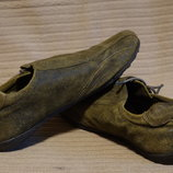 Оригинальные кожаные кроссовки с боковой застежкой Next Англия. 44 р.