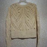 Кофта р. 48-50, вязка кружевная, акрил, шерсть женская распродажа нарядная, свитер лето, осень