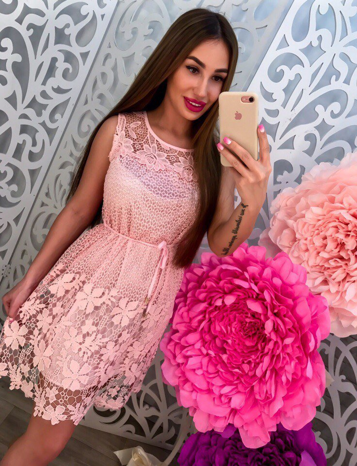 Платье котон и кружево