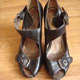 Bootqueen кожаные босоножки туфли сабо размер 38