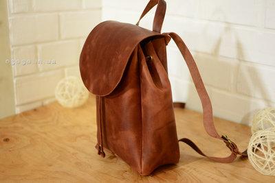 9dc80fd25576 Кожа. Ручная работа. Кожаный коричневый женский рюкзак, рюкзачок. Previous  Next