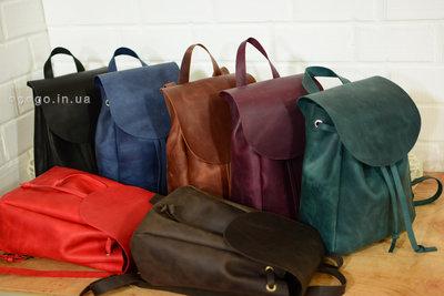 a1258b1c68d4 Кожа. Ручная работа. Кожаный зеленый женский рюкзак, рюкзачок. Previous Next