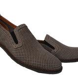 Летние мужские кожаные туфли BUMER на резинке
