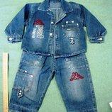 Костюм джинса рост 80-88, BALENO SPORT, куртка-рубашка джинсы детский мальчик девочка