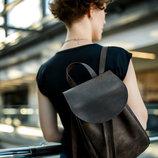 Кожа. Ручная работа. Кожаный коричневый женский рюкзак, рюкзачок