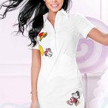 Платье-Рубашка с аппликацией