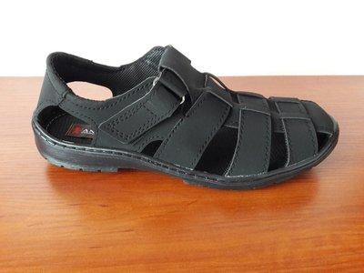 Босоножки сандалии мужские черные на липучках - чоловічі босоніжки сандалі чорні