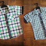 Стильні літні рубашечки для хлопчиків Турція.
