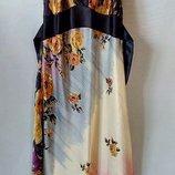 Нарядное шелковое платье 2 вида .HSM.Франция.р.S-M