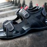 Мужские сандалии, натуральная кожа, модель спорт. В стиле экко, трансформеры