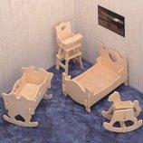 Эко пазл пазлы 3D 3Д фанера дерево мебель машина вертолёт пазли игра игрушка модель - конструктор