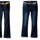 Джинсы для девочек Lee Ли Lee Girls' Belted Boot Cut Jean