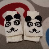 Крутые варежки панда от 7 лет и выше
