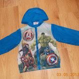 Красивая куртка-ветровка Marvel для мальчика 3-4 года, 98-104 см