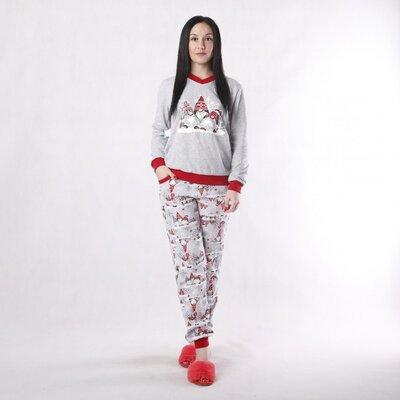 Подростковая пижама для девочки с начесом Санта