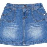 Джинсовая юбка, 3-4 года, 98, 104 Состояние новой
