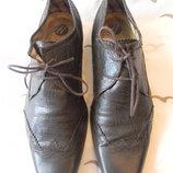 Мужские кожаные туфли by hudson р.41 дл.ст 26см