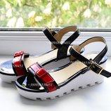 Скидка Супер удобные босоножки на танкетке.сандалии, сандали, на платформе, белой, подошве