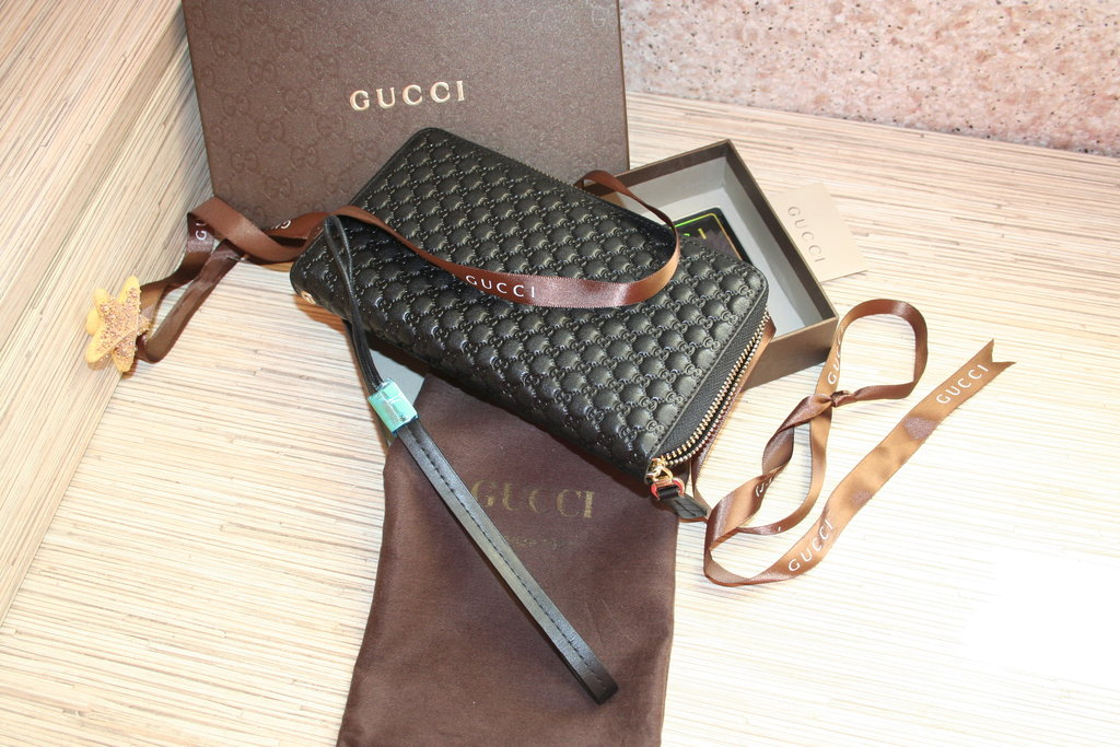 Мужской клатч-органайзер Gucci, черный, арт 065-19