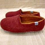 Продам фирменные, как новые, валяные тапочки, ботиночки 33-34 р.