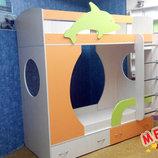 Кровать детская двухъярусная Дельфин а21-3 Merabel