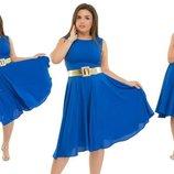 Стильное Платье Для Пышных Дам Креп Шифон