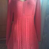 Вязанное платье-туника