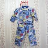 Пижама GUBKA BOB, смотри замеры, мальчик девочка детская распродажа лето