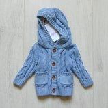Новая кофта для маленького модника. M&S. Размер 0-1 месяц